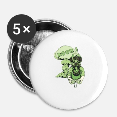 Atomic Bomb PLAY atomic bomb explosion gas mask bomb gift - Buttons small 25 mm