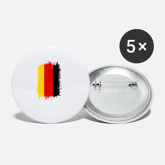 Flag Of Germany Buttons - Germany - Small Buttons white