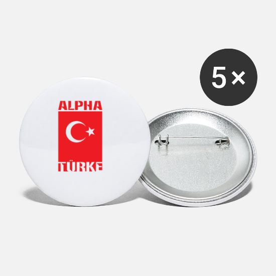 Demilune Badges - Alpha Turk - Petits badges blanc