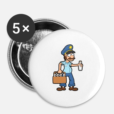 Milk Milk delivery service Milkman Milk boy Milk - Buttons small 25 mm