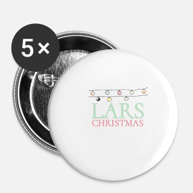 Scandinavia Shirt for people who are called Lars. Lars Christmas - Buttons small 25 mm