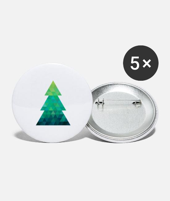 Christmas Buttons - Modern style Christmas tree XMAS - Small Buttons white