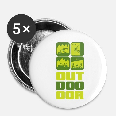 Outdoor outdoor - Buttons klein 25 mm (5-pack)