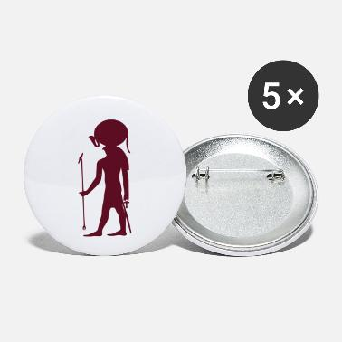 Pictograph Egyption God 23 - Small Buttons