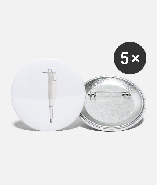 Grad Student Buttons - pipette - Small Buttons white