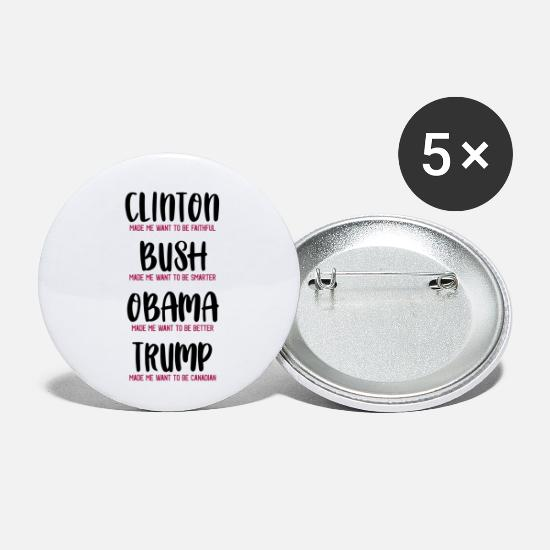 Politics Buttons - Trump lets me become Canadian - Small Buttons white