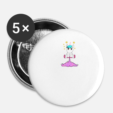 Paillettes Pet licorne - Badge petit 25 mm