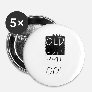 Tlc alte schule, old school, oldschool - Buttons klein 25 mm (5-pack)