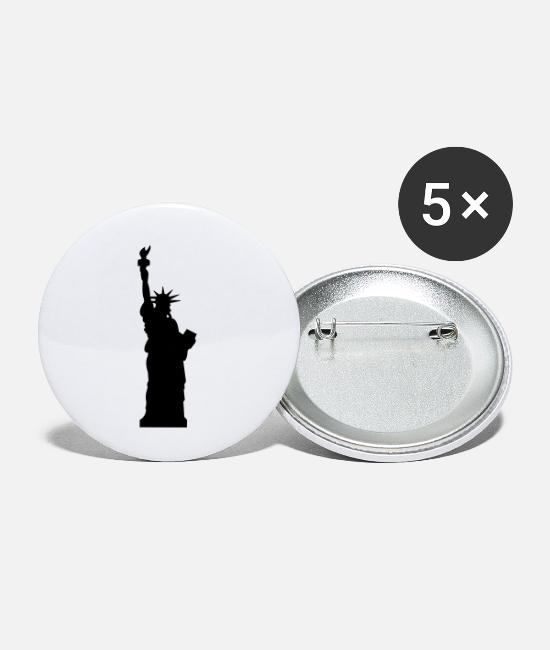 M5400557 Buttons - statue of liberty - Small Buttons white