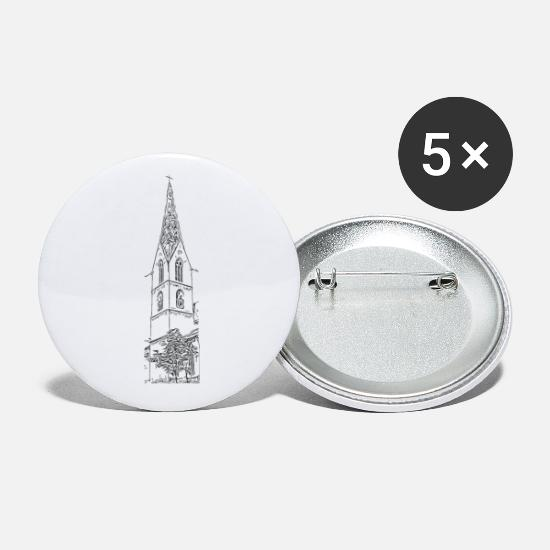 Gift Idea Buttons - Heilig-Kreuz-Münster Rottweil black - Small Buttons white