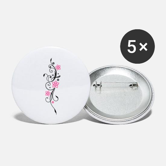 Floral Buttons - Beautiful, filigree flowers. Floral element. - Small Buttons white