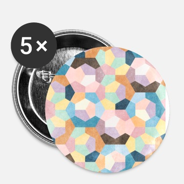 Hexagon Honeycomb Pastels #001 - Buttons small 25 mm
