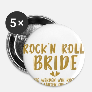 Ungkarlskvinna Rock'n Roll Bride - JGA - Gold Series - Små knappar 25 mm