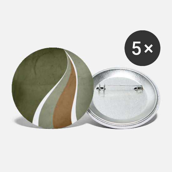 Etableret Buttons & badges - Contemporary Abstract Swerves in Sage Green and - Små buttons hvid