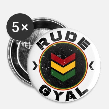 Rude Rude Gyal - Lot de 5 petits badges (25 mm)