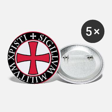 Chivalry 27 Knights Templar Cross saying Middle Ages - Small Buttons