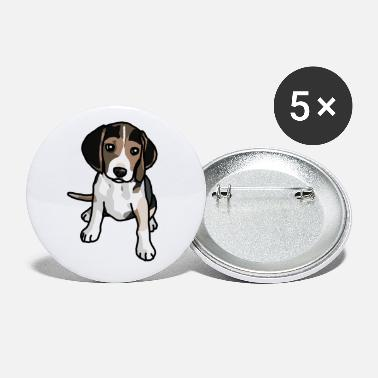 Beagle, hond, cartoon, cadeau idee - Buttons klein