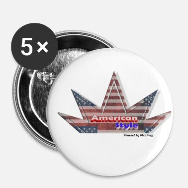 Us US flag - Buttons/Badges lille, 25 mm