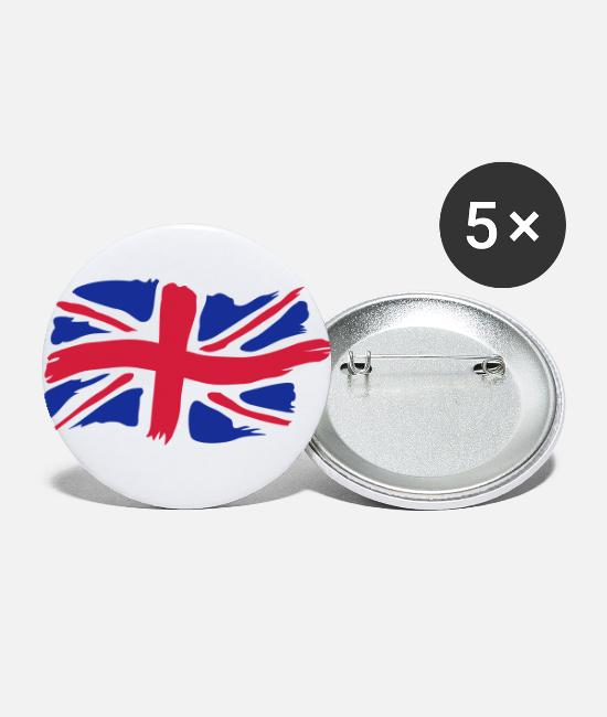 Great Britain Buttons - unionjackbrush - Small Buttons white