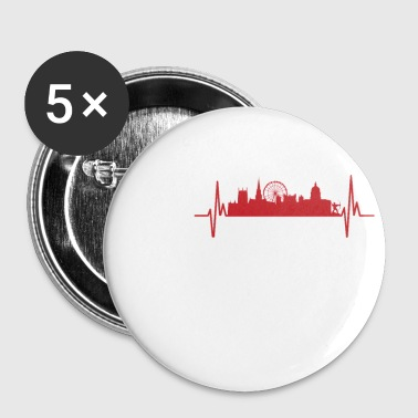 My heart beats like Nottingham - Buttons small 25 mm