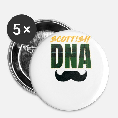 Scotland Scotland DNA Scotland Mustache - Buttons small 25 mm
