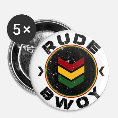 Rude Rude Bwoy - Lot de 5 petits badges (25 mm)
