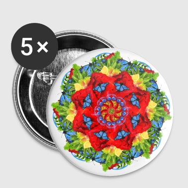 Poppy Mandala de champ de pavot - Badge petit 25 mm