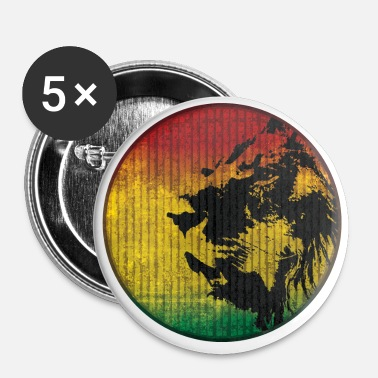 Rasta Lion rasta - Badge petit 25 mm