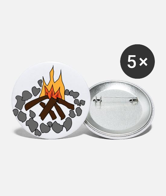 Camper Buttons - Campfire children - Small Buttons white