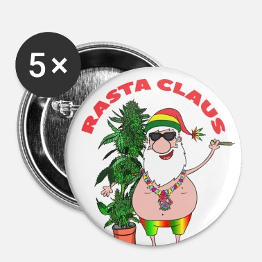 Rasta Rasta Claus - Badge petit 25 mm
