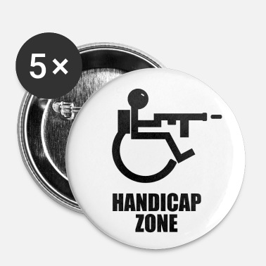 Handicapé Zone de handicap - Badge petit 25 mm