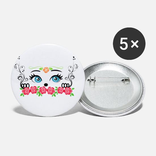 Love Buttons - Love and tenderness reflected in a look - Small Buttons white