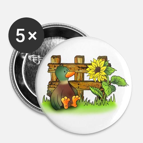 Zaun Und Sonnenblume Buttons Klein Spreadshirt
