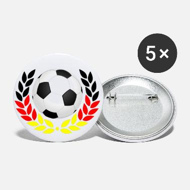 Black Red Gold Football black red gold - Small Buttons