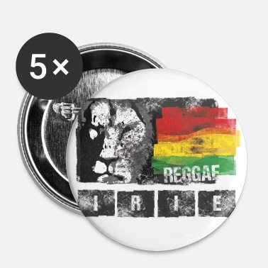 Rasta Jah Live Irie - Badge petit 25 mm