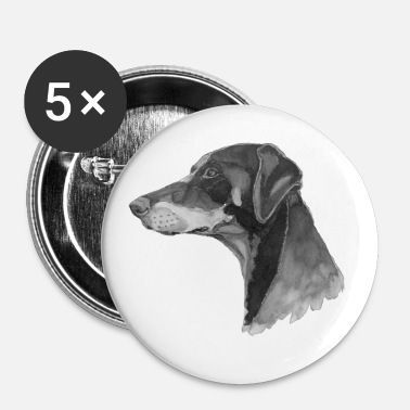 doberman pincher - Buttons small 1''/25 mm (5-pack)