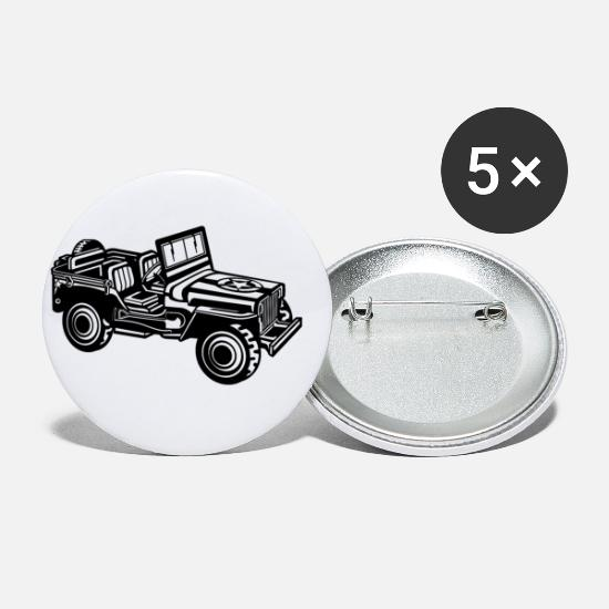 Army Buttons - SUV / Jeep SUV 01_black - Small Buttons white