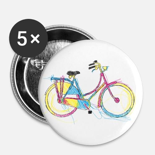 fahrrad buttons klein spreadshirt. Black Bedroom Furniture Sets. Home Design Ideas