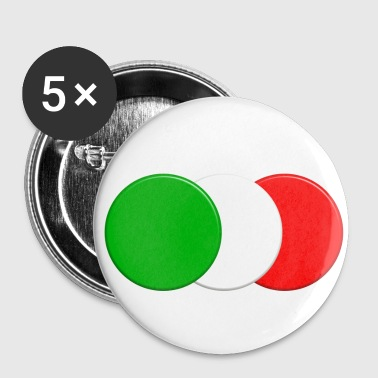 Drapeau italien - Badge petit 25 mm