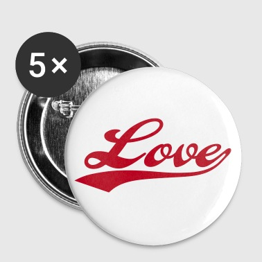 LOVE - i love you - Buttons klein 25 mm