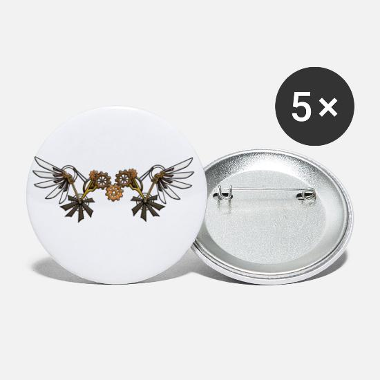 Wing Buttons - Steampunk wing - Small Buttons white