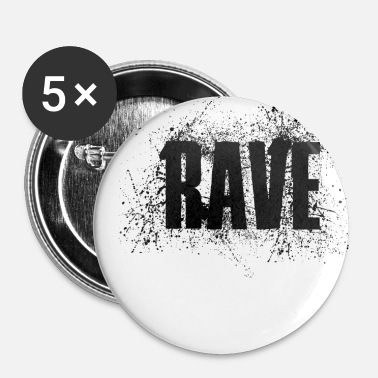 Jumpstyle Music Rave Jumpstyle Minimal Electro Techno Graffi - Buttons/Badges lille, 25 mm