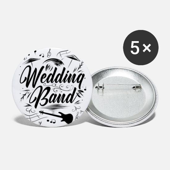 Love Buttons - Band wedding - Small Buttons white