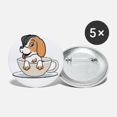 Hundar Morning Coffee Dog Dog Mug Djur Fantasi - Små knappar