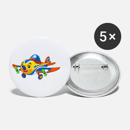 Airplane Buttons - Airplane Arthur Collection - Small Buttons white