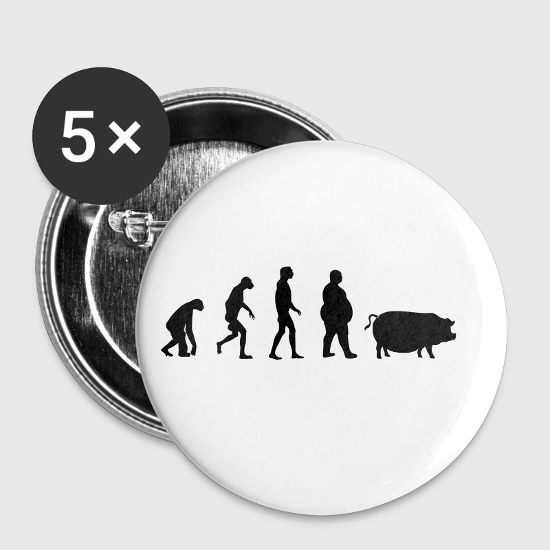 Evolution from ape to man to pig - Buttons small 25 mm