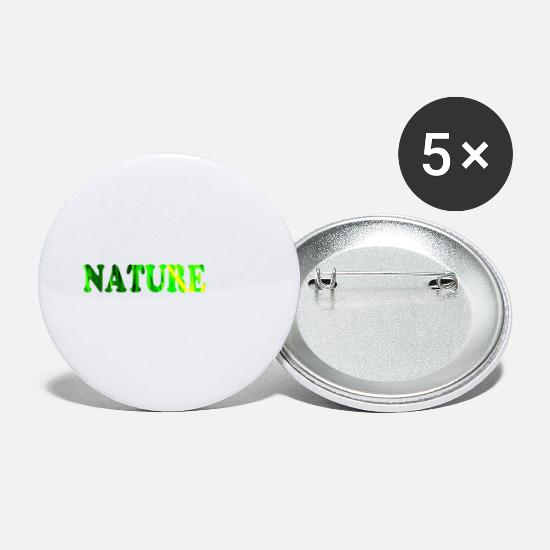 Herbe Badges - nature - Petits badges blanc