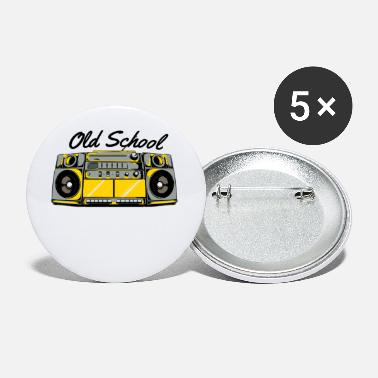 Old School Hip Hop Old School Boom Box für Hip Hop Musik - Buttons klein