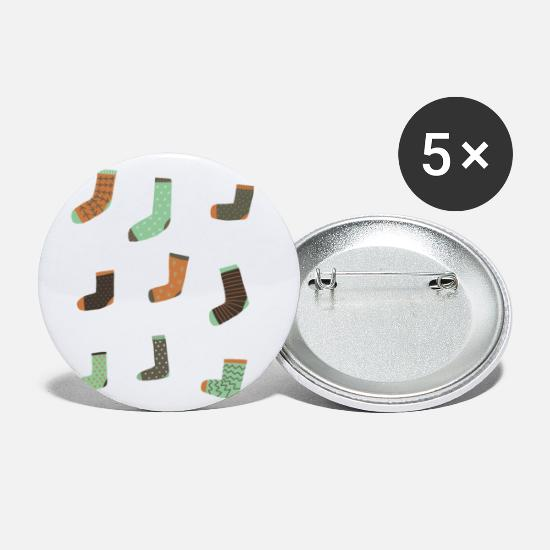 Gift Idea Buttons - socks - Small Buttons white