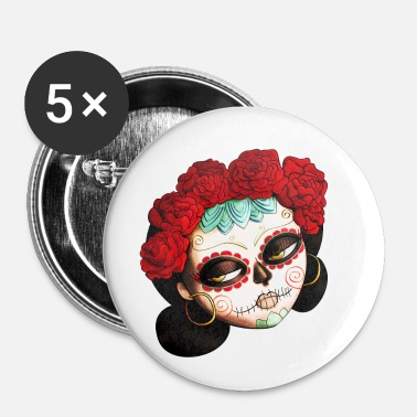 The Day of The Dead Beatiful Catrina Buttons - Buttons small 25 mm
